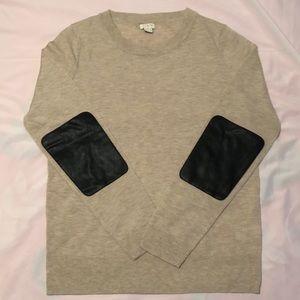 NWOT BOGO J Crew Factory Elbow Patch Sweater